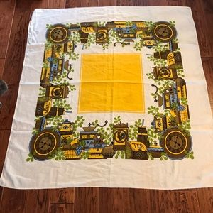 Vintage square tablecloth